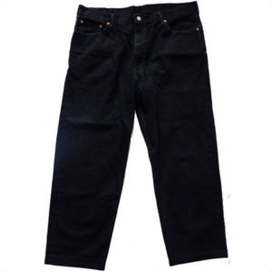 LEVIS 550 DARK BLACK MENS JEANS 42
